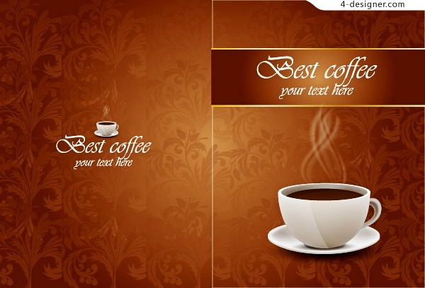 Vector material of classical coffee background