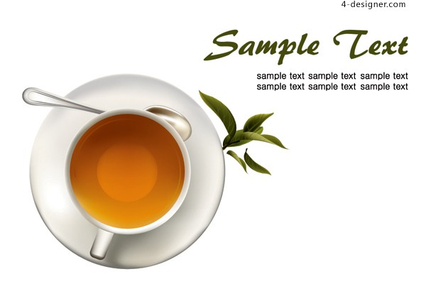 Vector material of coffee and tea