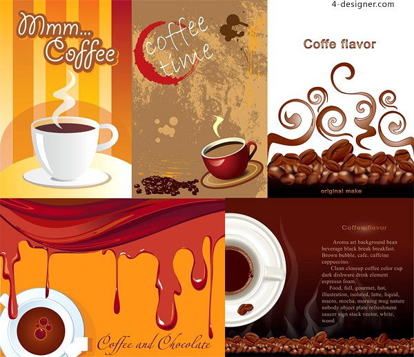 Vector material of coffee theme poster