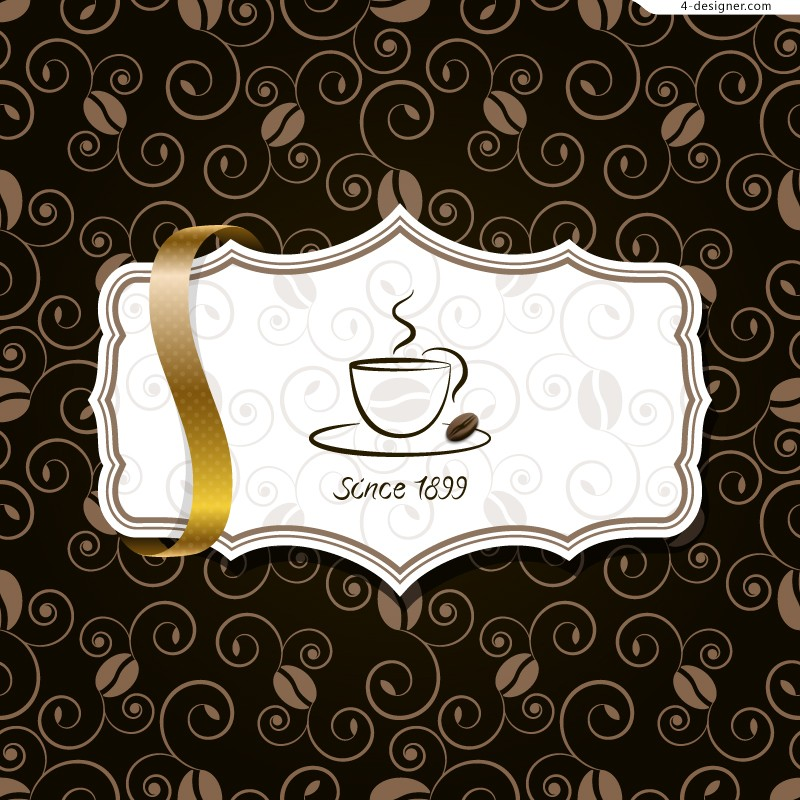 Vector material of creative Coffee background