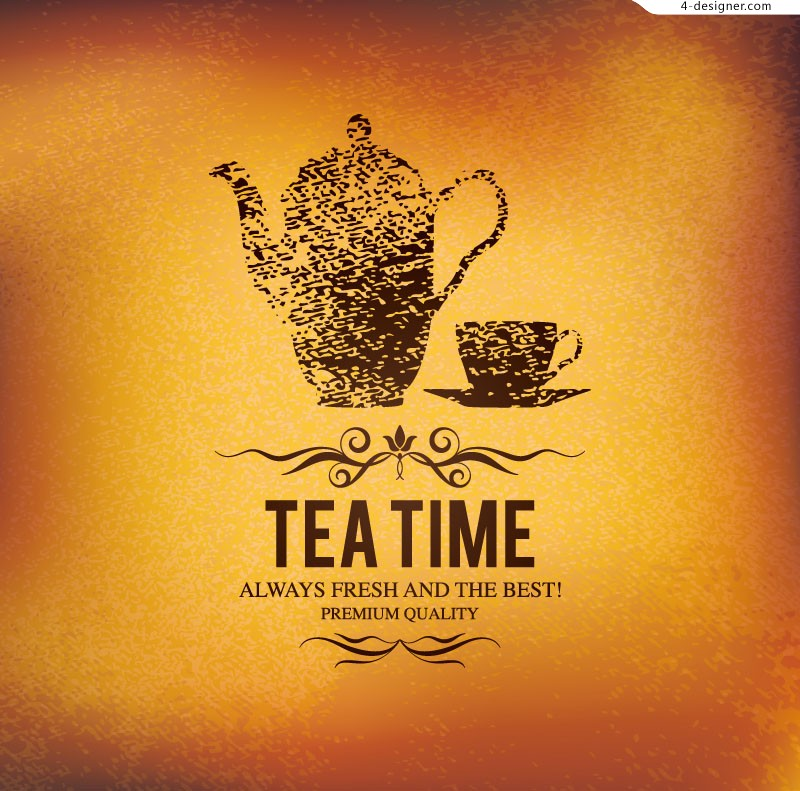 Vector material of creative tea poster