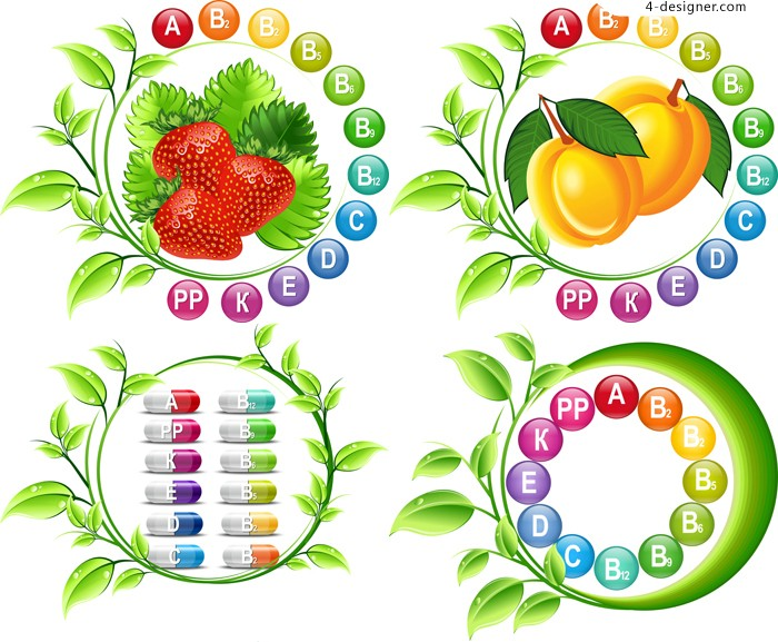 Vector material of creative vitamin sign