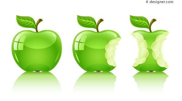 Vector material of crystal green apple