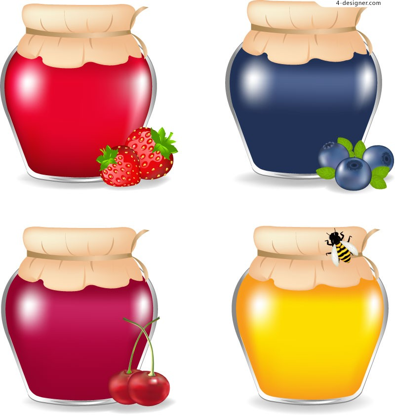 Vector material of delicious jam