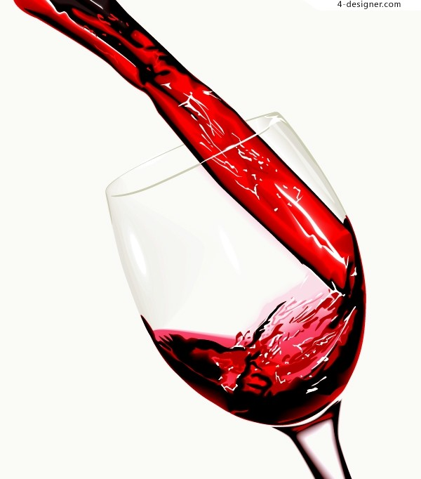 Vector material of dynamic wine background