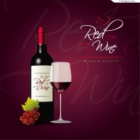Vector material of elegant wine background