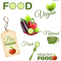 Vector material of exquisite food label