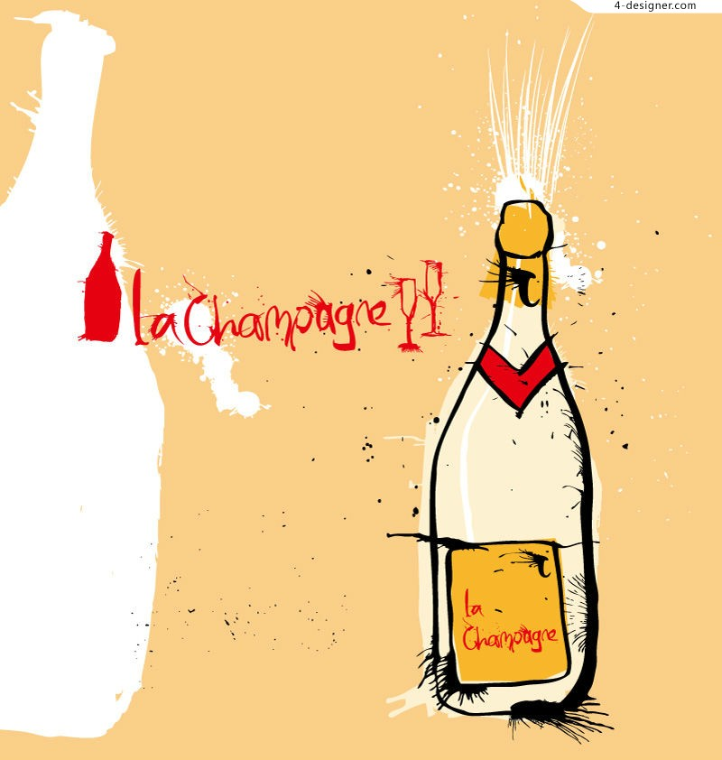 Vector material of painted Champagne