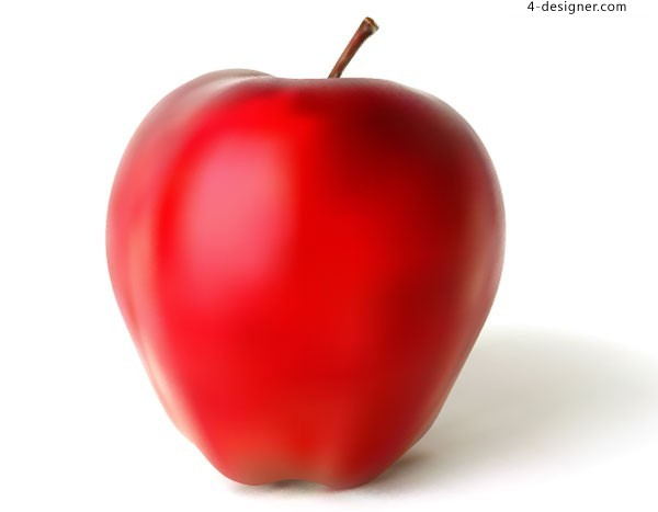 Vector material of red appleof AI format