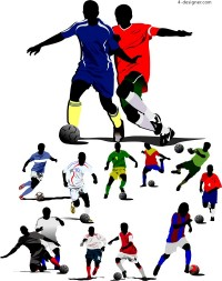Wonderful football moments vector material