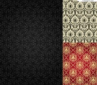 3 flower pattern background vector materials