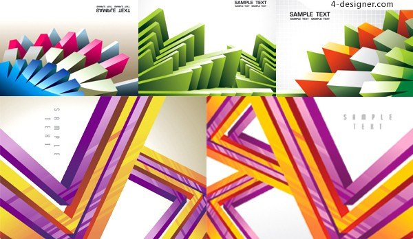 3D geometric pattern background vector materials