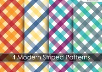 4 color plaid background vector materials