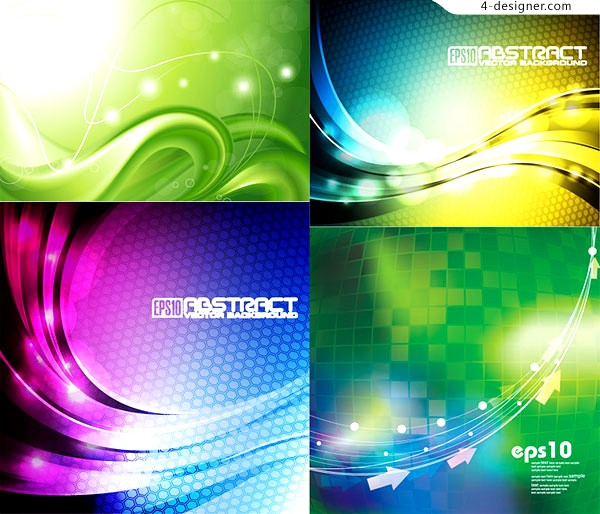 4 vector materials of striking textured background
