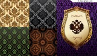 5 exquisite classical pattern background vector materials