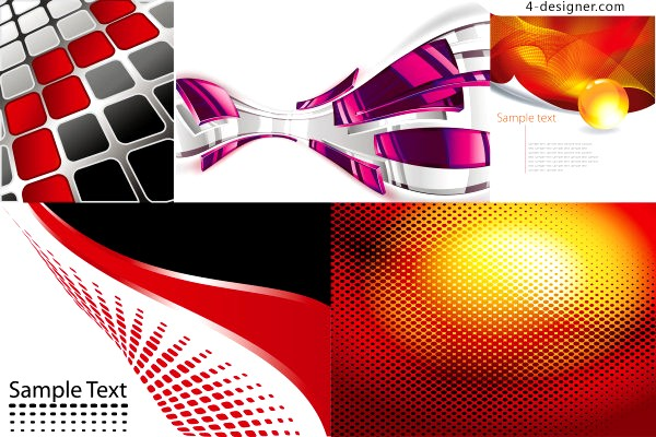 5 vector materials of spatial dynamic background
