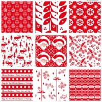 9 Christmas background element vector materials