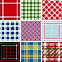 9 plaid background design vector materials