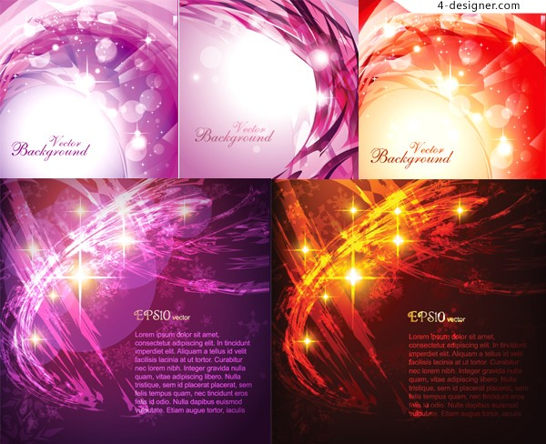 A variety fashion glare background vector materials