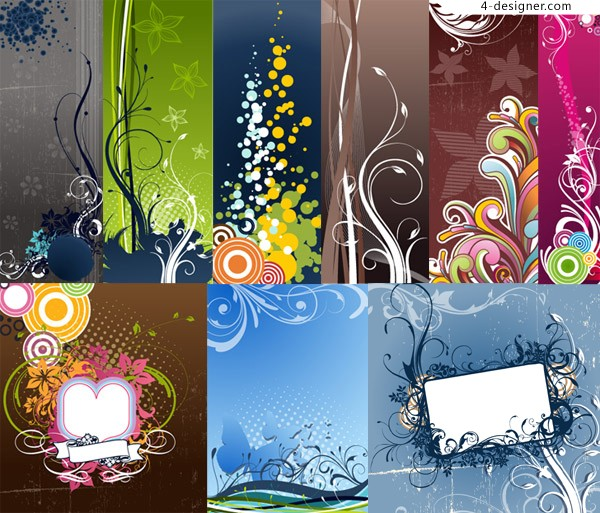 A variety of Fashion background vector materials