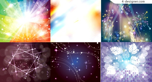 A variety of colorful light effect background vector materials