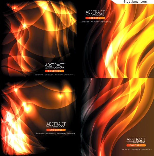 A variety of dynamic flame background vector materials
