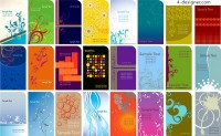 A variety of practical card background design vector materials