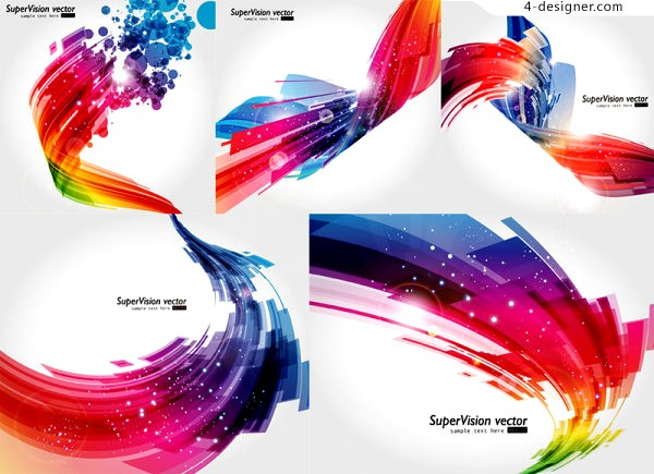 Abstract 3D striking background vector material
