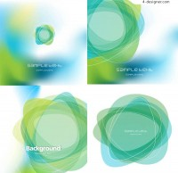 Abstract green background vector material