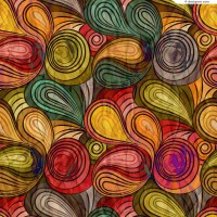 Abstract spiral folding pattern background vector material c