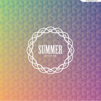 Abstract summer night background vector material