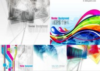 Abstract theme background vector material