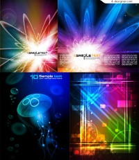 Background vector material with cool neon light effect