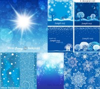 Background vector material with snowflake pattern