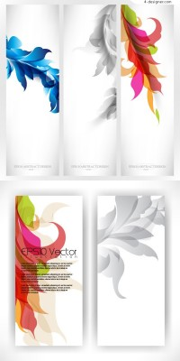 Banner vector material with beautiful decorated pattern