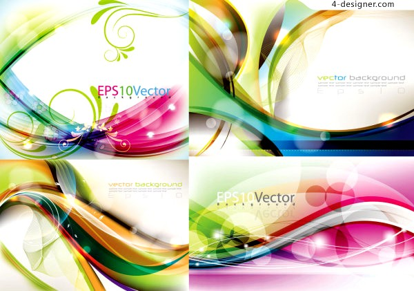 Beautiful colorful background vector material