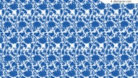 Blue and white floral background vector material