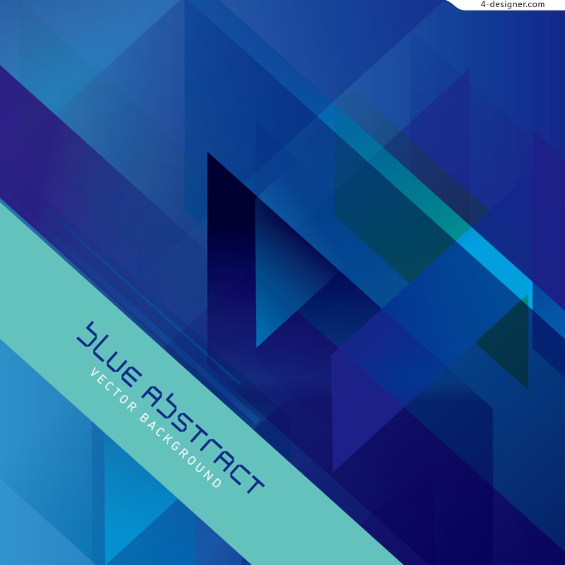 Blue geometric background vector material