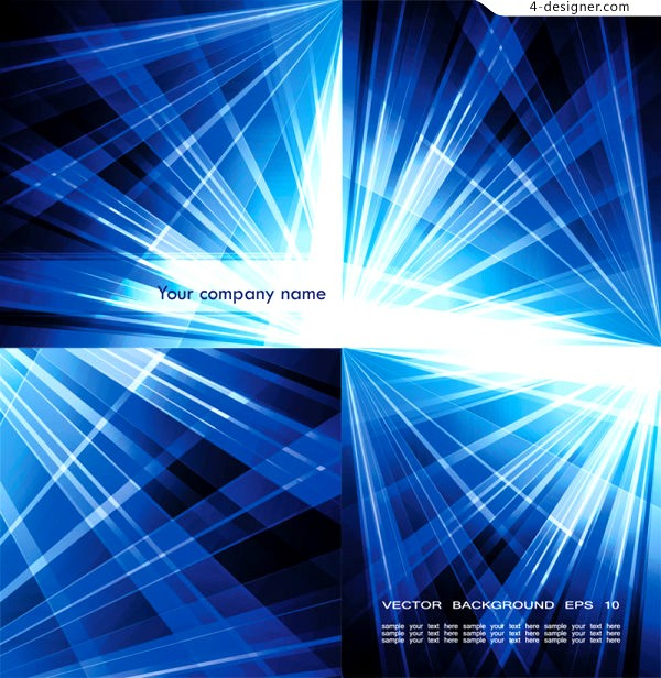 Blue light background vector material