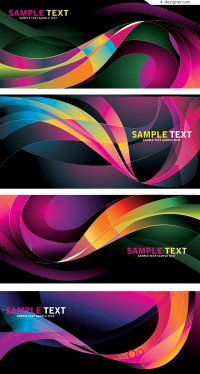 Bright colorful stripes background vector material