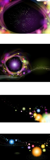 Bright galaxy background vector material