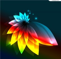 Bright light effects petals background vector material
