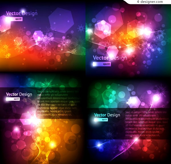 Bright snowflake background vector material