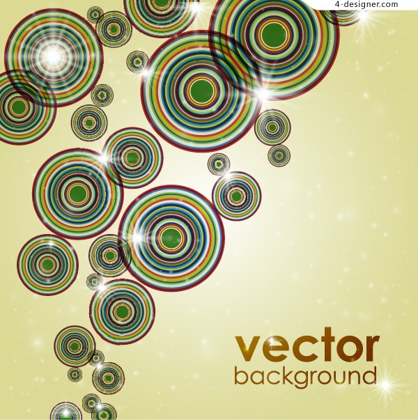 Brilliant circle background vector material