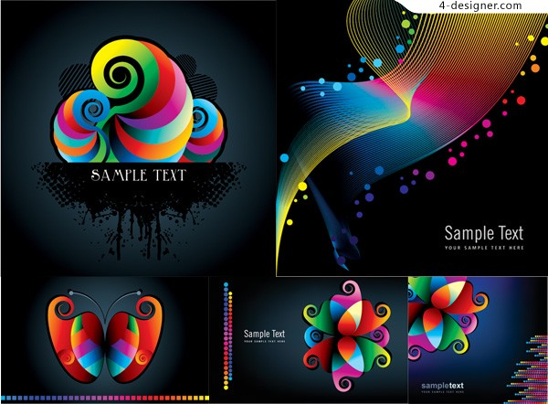 Color creative background vector material
