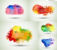 Colorful Inkjet ink background vector material