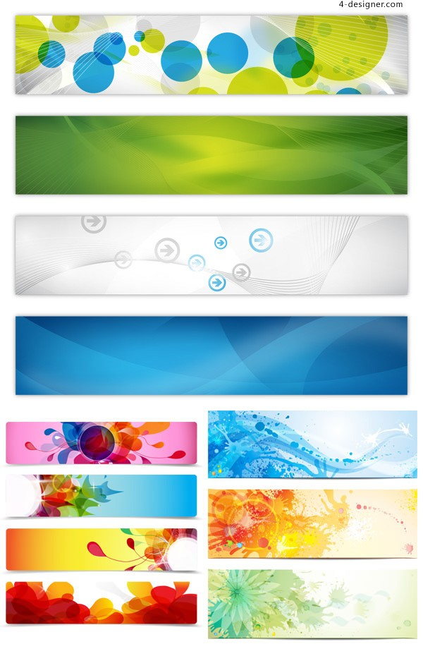 Colorful banner background vector material