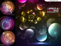 Colorful circle background vector material