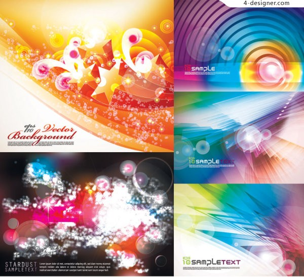Colorful gorgeous background vector material