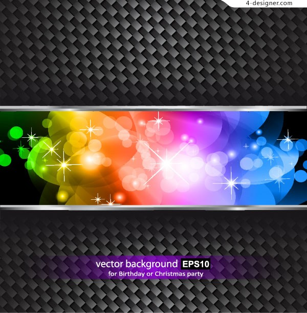 Colorful grid background vector material